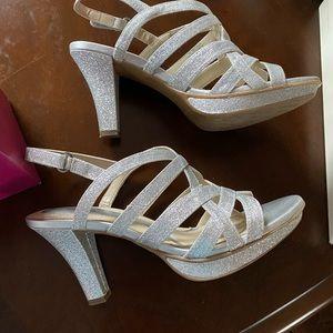 Naturalized Delma Silver Glitter heels